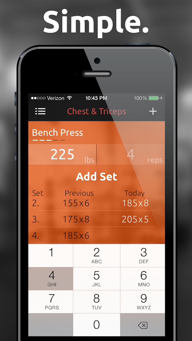 Fitted Lifts - Workout log and exercise tracker for bodybuilding and weight trainingのおすすめ画像1