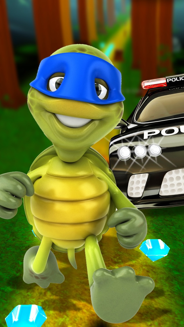 A Turtle Ninja Run 3D - Cool Kids Fun For Boys & Girls Free Screenshot
