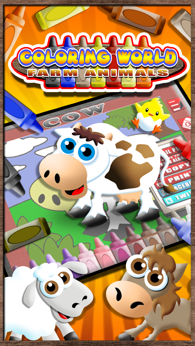 Coloring World Lite - A Farm Animal Learning Book for Kids