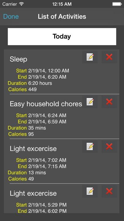 Activity Log App Free with Calories screenshot-4