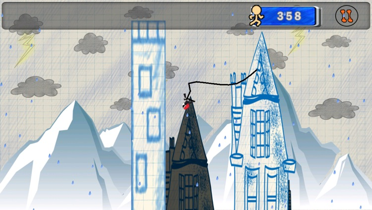Stick-man Swing Adventure: Tight Rope And Fly screenshot-3