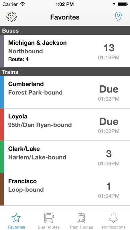 Transit Buddy - CTA Bus/Train Tracker
