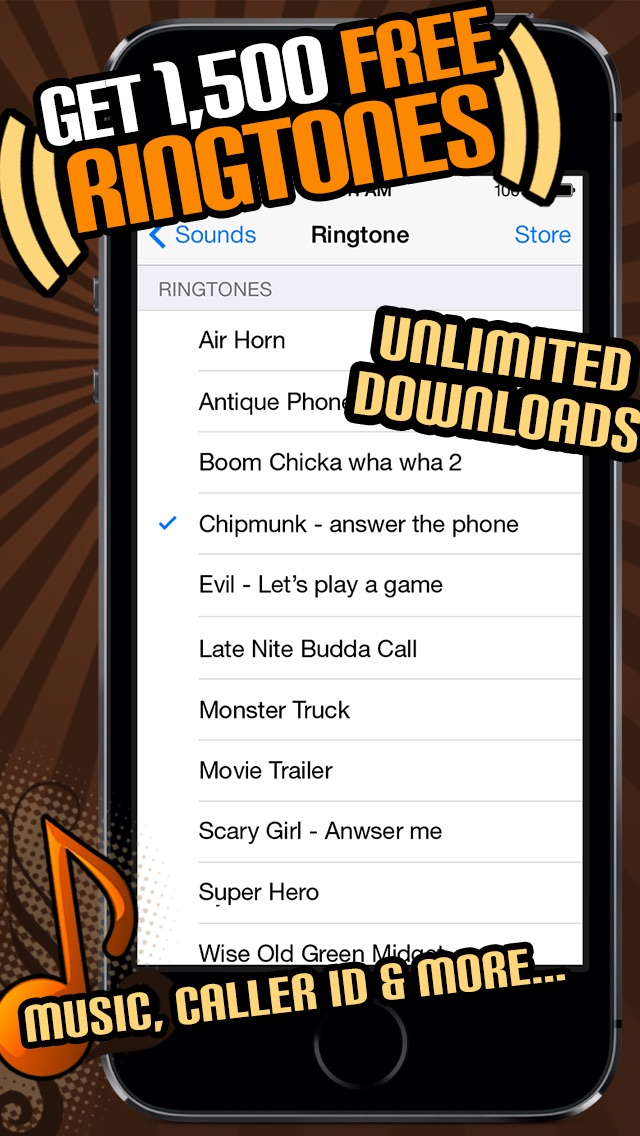 1500 Ringtones Unlimited - Download the best iPhone