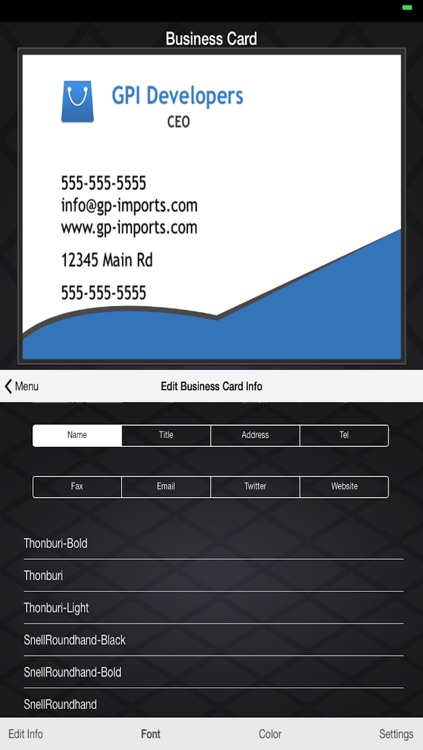 Business Card Builder screenshot-4