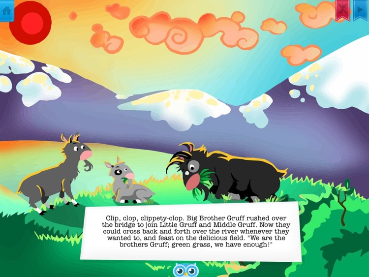 Three Billy Goats Gruff - Have fun with Pickatale while learning how to read! screenshot-3
