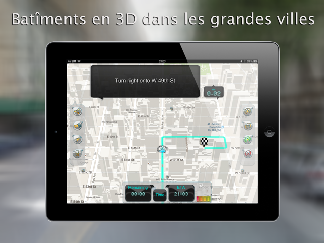 iway gps navigation sur ipad guidage vocal pas pas avec mode hors ligne dans l app store. Black Bedroom Furniture Sets. Home Design Ideas