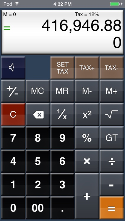 EZ-Digits HD Calculator screenshot-0