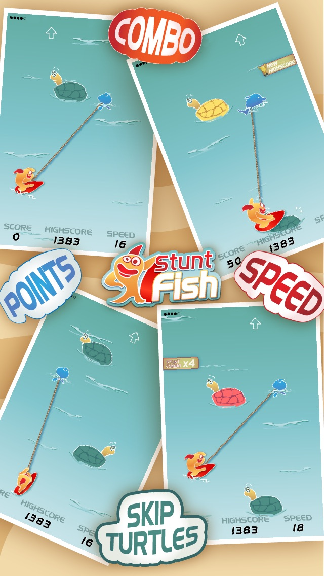 Stunt Fish - Make your goldfish jump through as much turtles as you can to get more points hack tool