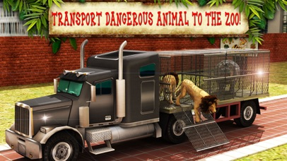 Zoo Animal Transport Truck Driving and Parking Mania screenshot one