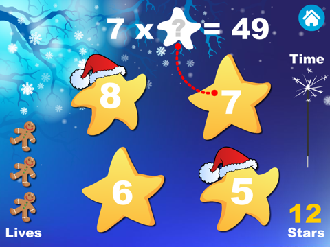 Adventure Basic School Math · Math Drills Challenge, Math Bingo, Catch Starfall and More - Learning Games (Numbers, Addition, Subtraction, Multiplication and Division) for Kids: Preschool, Kindergarten, Grade 1, 2, 3 and 4 by Abby Monkey® screenshot