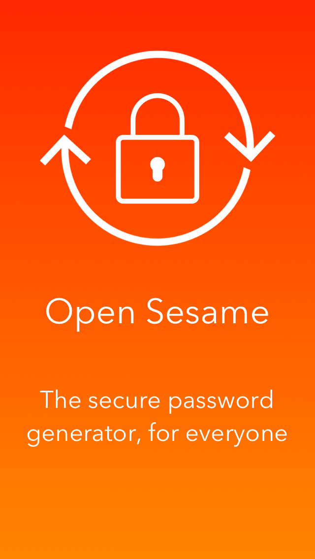 OpenSesame : password generator screenshot one