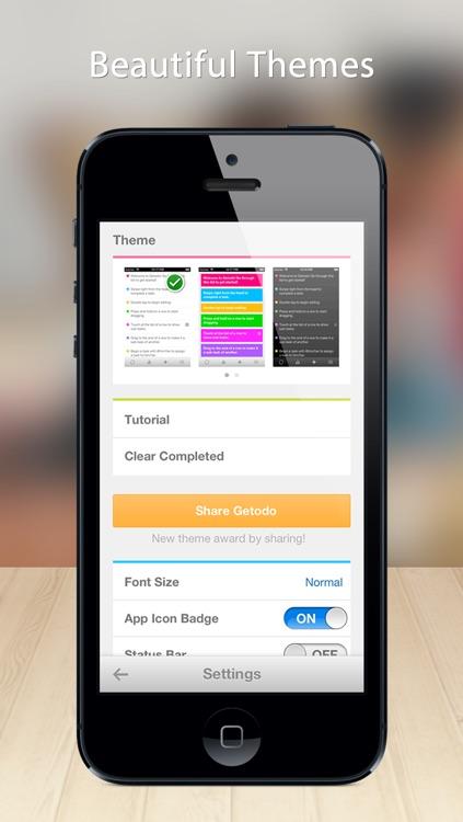 Getodo - Easy to-do and task list screenshot-3