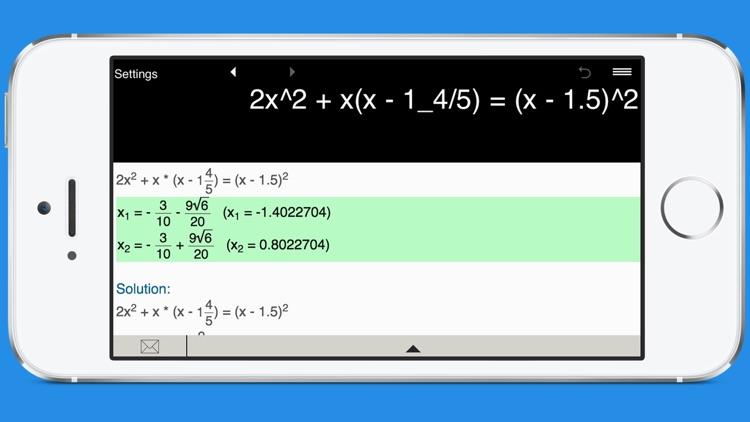 Quadratic Equation Solver with Steps screenshot-3