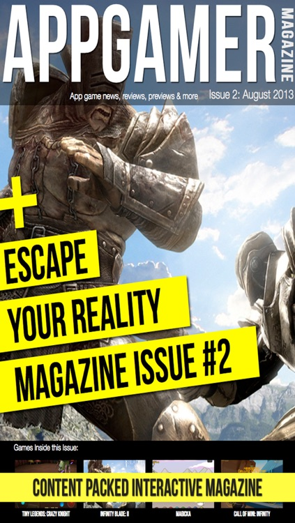 App Gamer Magazine - The Ultimate Gaming Magazine For News, Reviews, Guides & More Of Badass Adventure & Online Multiplayer Games. E.G. Infinity Blade 3 (Pro HD)