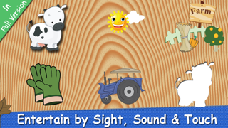 Farm Puzzle for Babies Free: Move Cartoon Images and Listen Sounds of Animals or Vehicles with Best Jigsaw Game and Top Fun for Kids, Toddlers and Preschool screenshot two