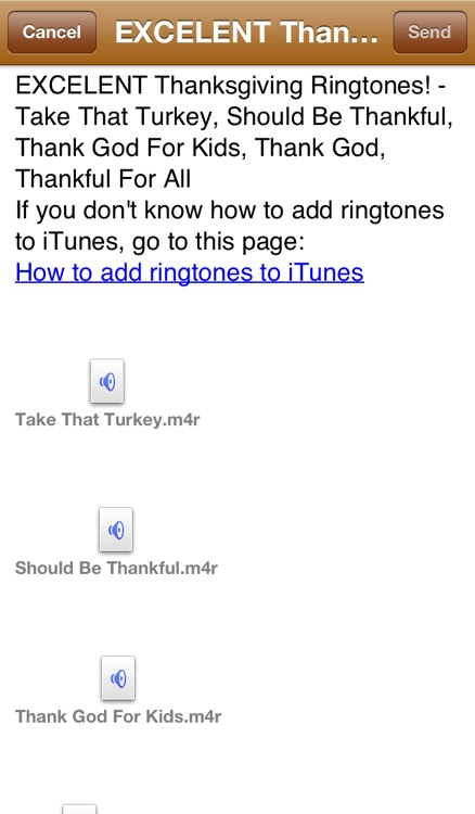 Thanksgiving Ringtones screenshot-3