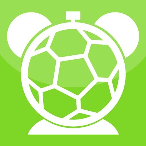 サッカーの目覚まし時計 - ワールドカップの音であなたのデジタル時計。夜寝ると、お気に入りの音楽で目を覚ます