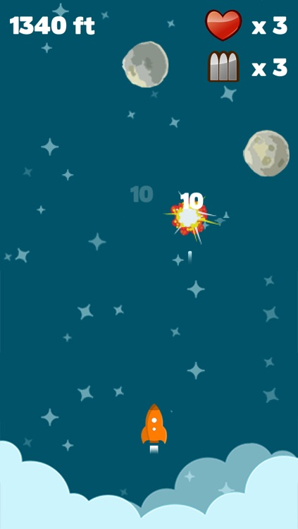 Astro Rocket Saga - Asteroids diving survival game