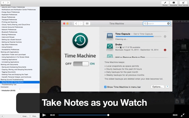 Tutor for OS X Yosemite Screenshot
