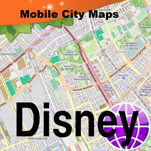 Disney Paris Street Map By Dubbele Com