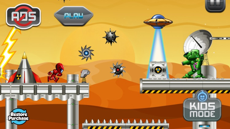 Mars Robot Alien Planet Attack Game