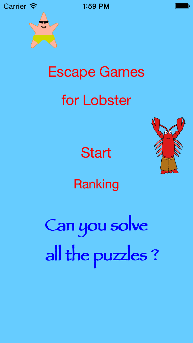 Mr. Lobster's Escape Games