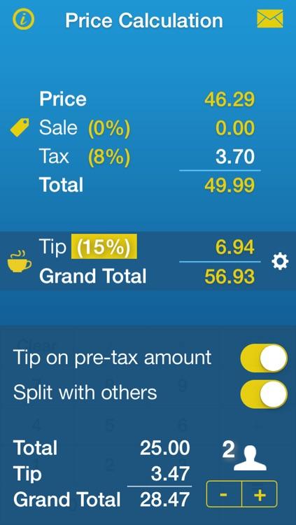 Sales Tax, Discount & Tip Calculator • Price Calculation screenshot-3