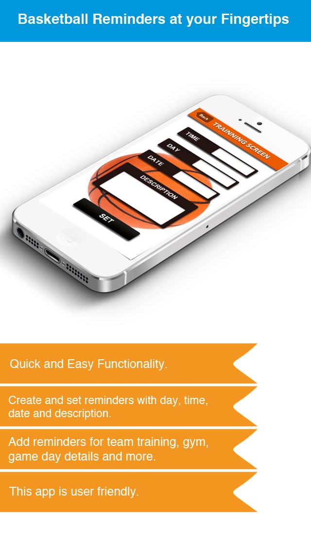Basketball Reminder App - Stundenplan Ablaufplan Reminders-SportScreenshot von 3