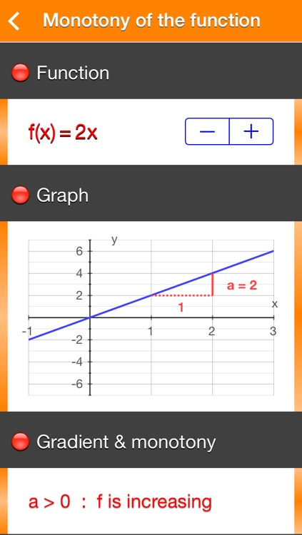 Functions f(x) = ax screenshot-1