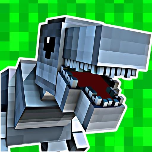 3D Pixel Dino-saur Block-s Run-ning For Survival Game Pro Version
