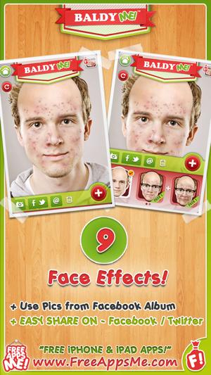Baldy me free bald old and no hair selfie yourself with animal free bald old and no hair selfie yourself with animal face photo booth effects maker on the app store solutioingenieria Gallery