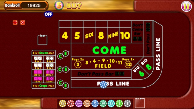 Roulette table min and max bets