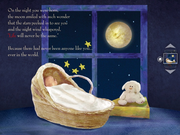 On The Night You Were Born – by Nancy Tillman (iPad version; by Auryn Apps)