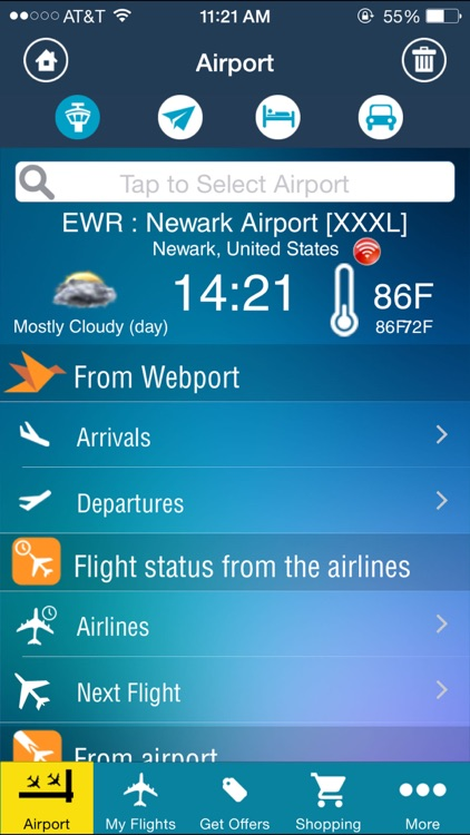 Newark Airport (EWR) Flight Tracker