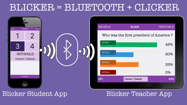 Blicker Beacon Poll For Student - Response system on the App