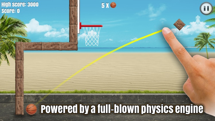 Through the Hoop - Basketball Physics Puzzler screenshot-3
