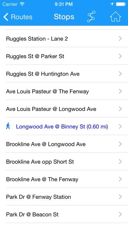 Where's my MBTA Bus? Lite screenshot-4
