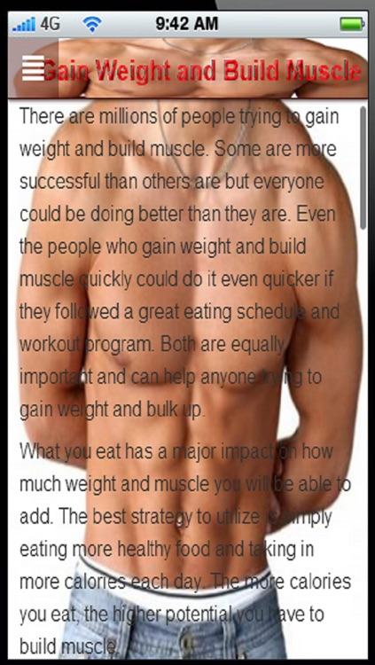 Gain Weight and Build Muscle:Gain Weight Diet plan for Men+ screenshot-4