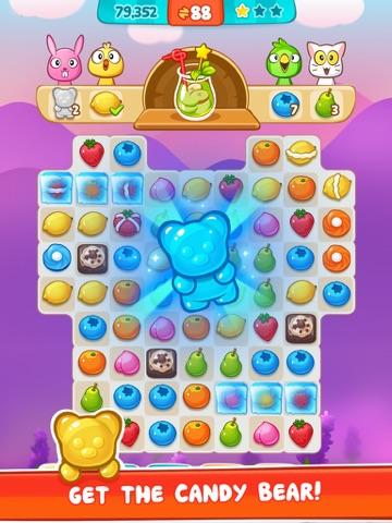 Panda Juice - matching 3 fruit puzzle adventureのおすすめ画像1