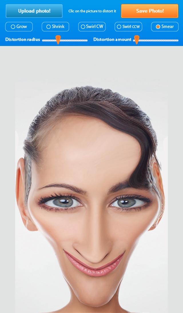 Liquid Face , Comic Face Effects , distort - Funny Photo Warp, Deform , Booth تغير و تشويه الوجه بشكل مضحك تكبير الأنف والعين رسم وتلوين Screenshot