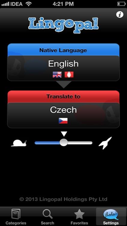 Lingopal Czech LITE - talking phrasebook