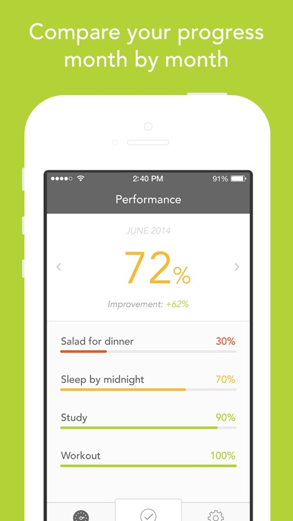 Disciplino — goal tracker with stats and reminders