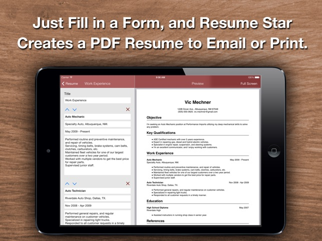 Resume Star: Pro CV Maker and Resume Designer with PDF Output to ...