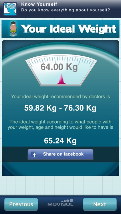 Your Ideal Weight: calculator for your losing diet screenshot-3