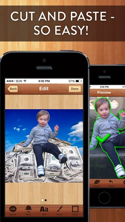 Cut Me In Pro - Easy to use Photo Chop Background Adjuster with Photoshop like effects!