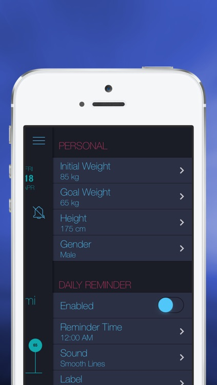 iCan! - Free Daily Weight Tracker and BMI Monitor