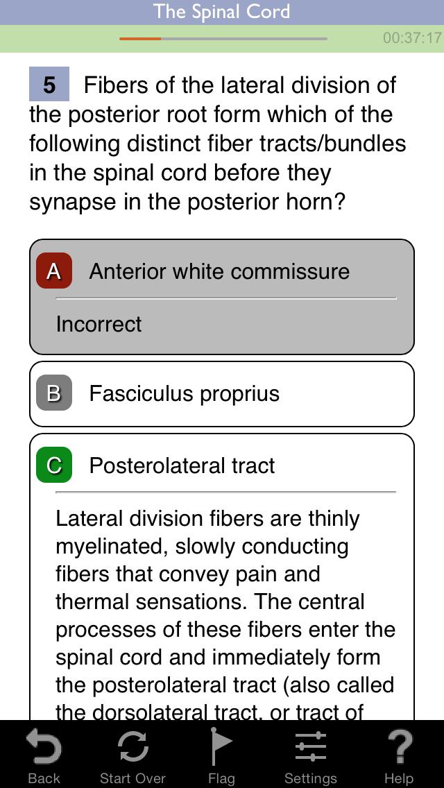 Neuroscience Lippincott's Illustrated Q&A Review screenshot three