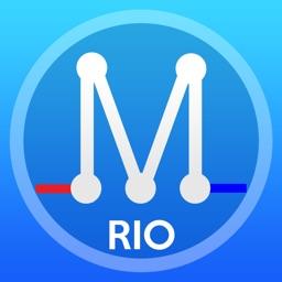 Rio Metro - Map of Transport  Rio de Janeiro offline map