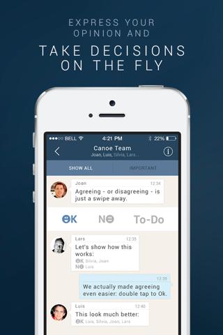 Canoe Messenger - Mobile Messaging for Work screenshot 4