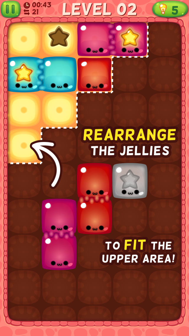 Jelly Fit - Slide to Fit the Sticky Gelatin Jellies screenshot one